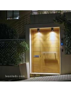 Plafón de Techo LED para exterior Tami 8W Gris Oscuro IP54 Cuadrado de Faro Barcelona | LeonLeds Iluminación