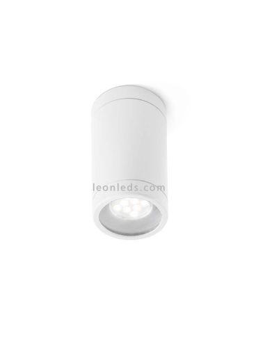 Plafón de Techo para exterior Olot 1xGU10 Blanco IP44 de Faro Barcelona | Leonleds Iluminación