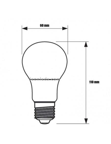 Bombilla LED Philips 13w E27 A60 blanca mate Bombillas para uso prologando | LeonLeds Iluminación
