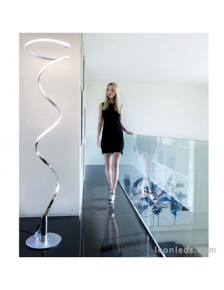 Lámpara LED de pie para salón Helix regulable | Lámpara de pie LED de salón barata y moderna | LeonLeds Iluminación