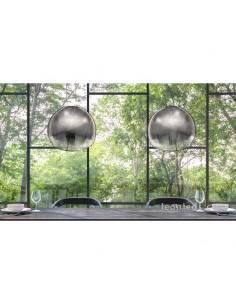 Lámpara de techo Grafito | Lámpara de techo salón mediana Lens | Lámpara colgante salón | LeonLeds Iluminación