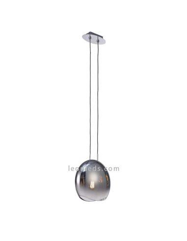 Lámpara de techo Grafito   Lámpara de techo salón mediana Lens   Lámpara colgante salón   LeonLeds Iluminación