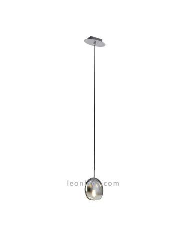 Lámpara de techo Grafito   Lámpara de techo salón pequeña Lens   Lámpara colgante salón   LeonLeds Iluminación