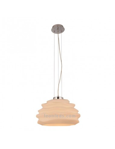 Lámpara de techo de cristal Nubole | Lámpara colgante Cristal opal 6174 | Lámpara de techo | LeonLeds