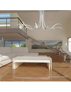Lámpara Plafón de techo moderna | Lámpara colgante LED Corinto 6106 | Plafón LED de techo grande | Leonleds