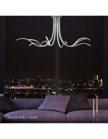 Lámpara Plafón de techo moderna | Lámpara colgante LED Corinto 6105 | Plafón LED de techo grande | Leonleds