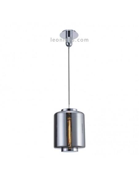 Lámpara de techo Vintage moderna   Lámpara colgante moderna 6194   Lámpara de techo Cromo Grafito   LeonLeds