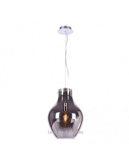 Lámpara de techo de Cristal serie Anfora Cromo | Lámpara colgante Cromada Anfora 6271 | LeonLeds