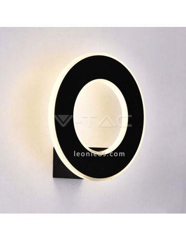 Aplique de pared LED para interior de color blanco de diseño moderno con luz calida amarillas 8208 vtac | LeonLeds Iluminación