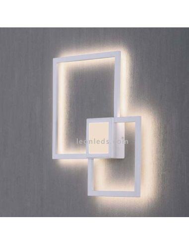 Aplique de Pared LED Mural | Plafón LED de techo Cuadrado blanco | Aplique de Pared LED | LeonLeds
