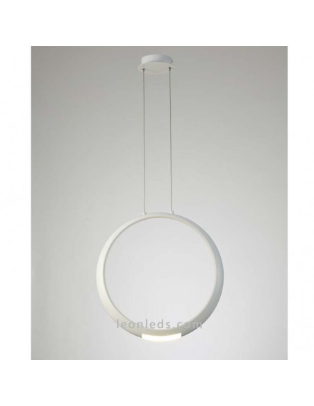 Lámpara de Techo LED moderna | Lámpara colgante Blanca LED | Lámpara LED Ring de mantra | LeonLeds
