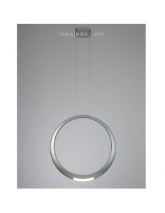 Lámpara de Techo LED moderna | Lámpara colgante Plata LED | Lámpara LED Plateada Ring | LeonLeds