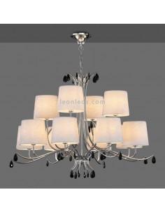 Lámpara de Techo araña con pantallas | Lámpara de techo Andrea | Lámpara colgante clasica araña | Leonleds