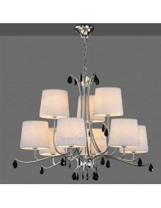 Lámpara de Techo araña con pantallas | Lámpara de techo Andrea | Lámpara mediana serie andrea | Leonleds