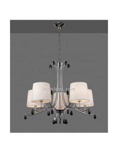 Lámpara de Techo araña con pantalla textil | Lámpara de techo Andrea | Lámpara colgante araña | Leonleds