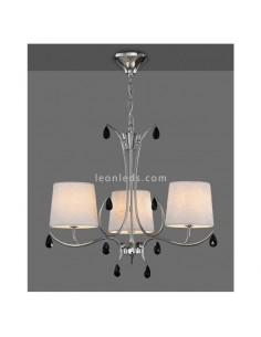 Lámpara de Techo araña con pantalla textil | Lámpara de techo Andrea | Lámpara araña pequeña | Leonleds
