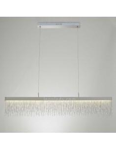 Lámpara de Techo LED de la serie Cenna | Lámpara colgante LED de diseño moderno cromada | Lámpara colgante LED moderna