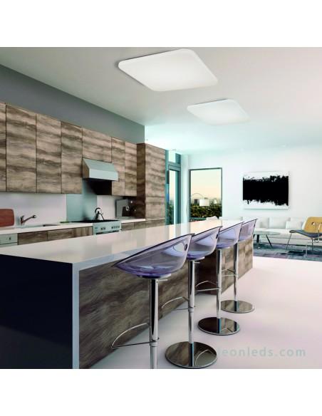 Plafón De Techo Cuadrado LED | Plafón De Techo LED Para Cocina Potente |  LeonLeds Iluminación
