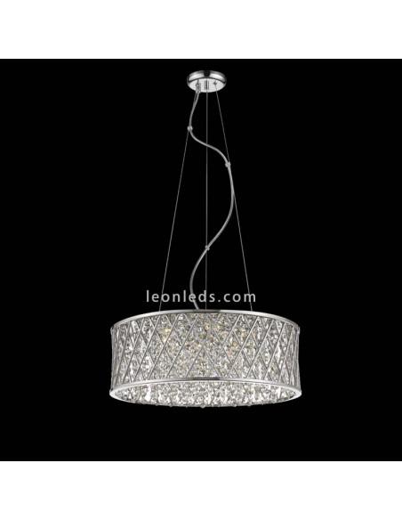 Lámpara de Techo regulable en altura | Lámpara colgante Destellos 6255 | Lámpara Cromada | LeonLeds Iluminación