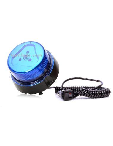 Rotativo LED Magnético Azul | Rotativo LED Azul con base Magnética | Rotativo LED Azul conexión mechero | LeonLeds