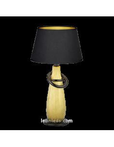 Lámpara de Sobremesa Clásica Moderna | Lámpara de mesa Thebes | Lámpara Dorada y Negra | LeonLeds Iluminación