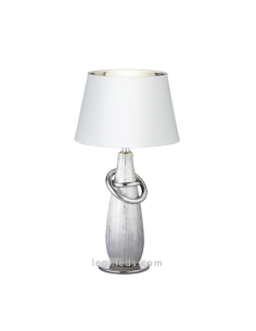 Lámpara de Sobremesa Dorada y Blanca Thebes | Lámpara de mesa clasica y moderna | LeonLeds Iluminación