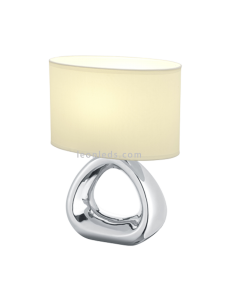 Lámpara de Sobremesa Moderna | Lámpara de mesa de noche Plateada | Lámpara de mesa Gizeh | LeonLeds