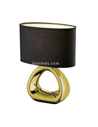 Lámpara de Sobremesa Minimalista | Lámpara de Sobremesa Dorada y Negra | Lámpara de noche moderna Dorada | LeonLeds Iluminación