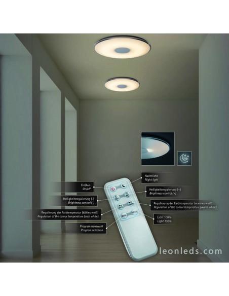Mando para regular Plafón LED Tokyo | Plafón LED con mando a distancia | LeonLeds Iluminación