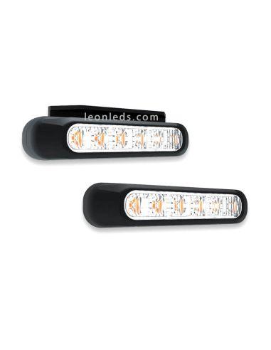 Piloto LED Estroboscopico ambar | Barra LED advertencia Ambar | Barra LED Fristom FT-200 | LeonLeds Iluminación