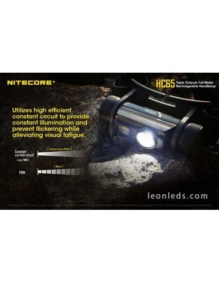 Nitecore HC65 | Linterna LED de cabeza HC65 | LeonLeds Iluminación