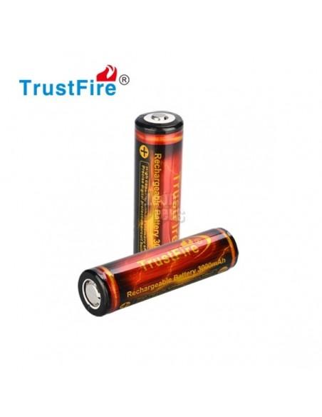 Batería Litio 18650 TrustFire serie Flame 3000Mah li-ion | LeonLeds
