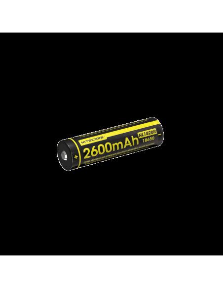 Bateria Nitecore NL1826R | Nitecore NL1826R | Batería 18650 recargable | LeonLeds Iluminación