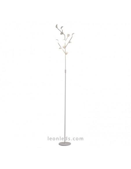 Lámpara de Pie Led de la serie ADN en blanco mate de Mantra iluminación 6268 | LeonLeds Iluminación