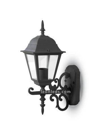 Aplique de pared para exterior IP44 de VTac con acabado negro al mejor precio   LeonLeds Iluminación