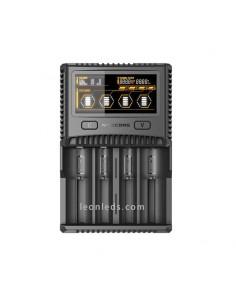 Cargador batería Nitecore SC4 | Nitecore SC4 cargador de 4 bahías con pantalla LCD | LeonLeds