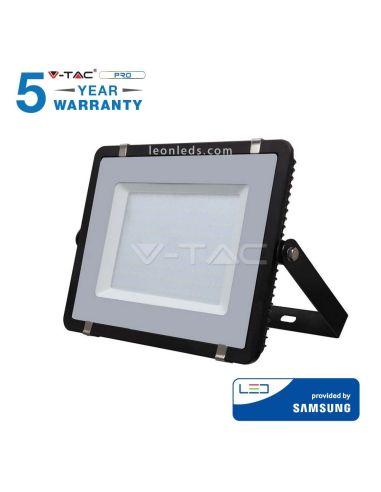 Proyector Led Negro 200W 6400K Luz Fría de Vtac pro baratos | LeonLeds Iluminación