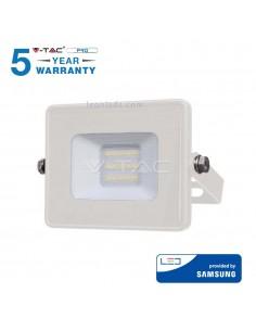 Proyector Led Blanco de 10W Luz Fría 6400K para exterior Vtac pro   LeonLeds Iluminación