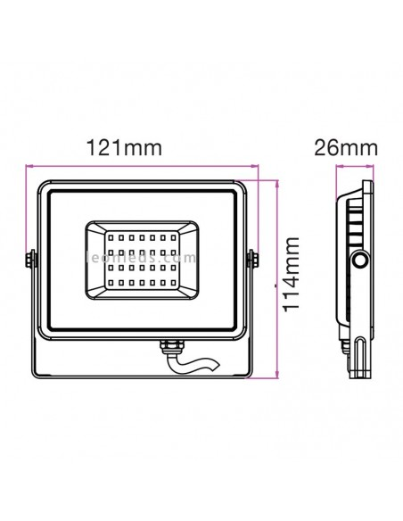 Proyector Led Negro de 10W Luz cálida 3000K para exterior Vtac pro | LeonLeds Iluminación