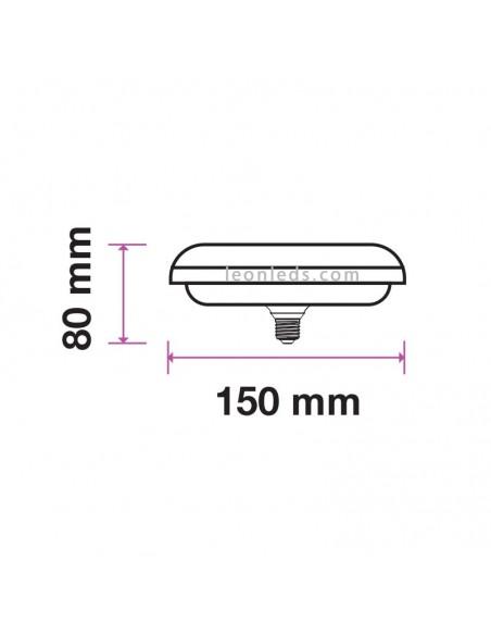 Bombilla Led Ufo 24W 6400K luz cálida de Vtac Pro al mejor precio | LeonLeds