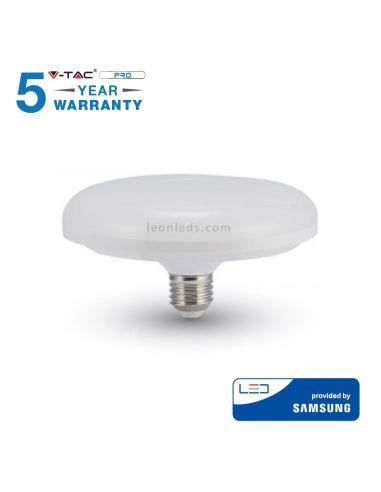 Bombilla Led UFO E27 de 15W y luz fría 6500K de Vtac pro al mejor precio | LeonLeds Iluminación