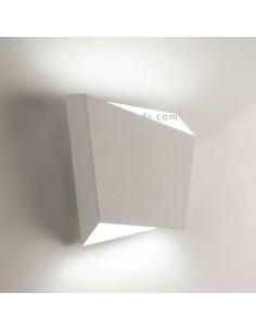 Aplique de pared Asimetric Blanco para bombilla GX53 de Mantra Iluminación | LeonLeds.com