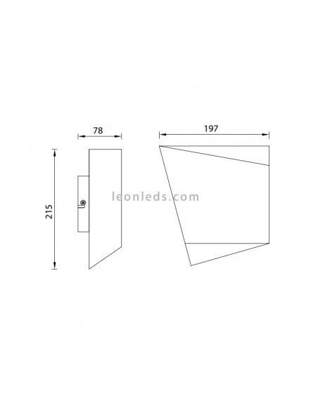 Aplique de pared Asimetric Negro y Dorado para bombilla GX53 de Mantra Iluminación | LeonLeds.com