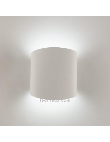 Aplique de pared Asimetric Blanco cilindrico para bombilla GX53 de Mantra Iluminación | LeonLeds.com