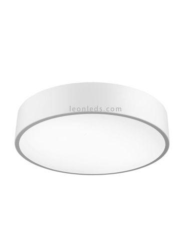 Plafón de Techo blanco redondo | Plafón para techo interior | Plafon LED redondo Cumbuco | LeonLeds Iluminación