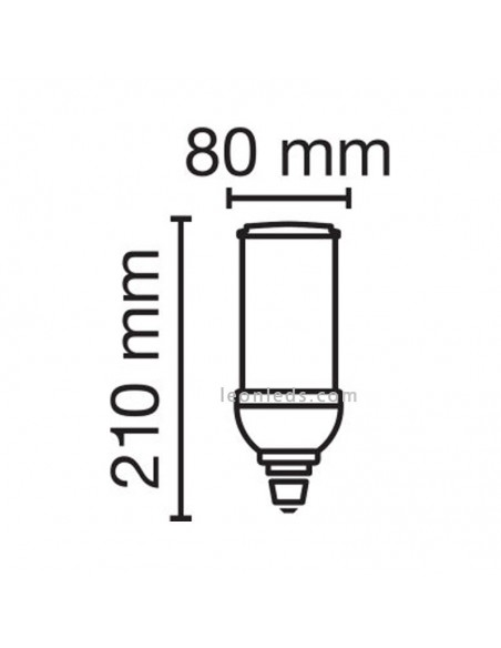 Dimensiones de Bombilla LED Osram HQL LED 6000 | Osram LedVance HQL 6000 840 E40 | LeonLeds Iluminación