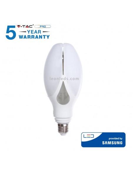 Bombilla LED E27 40W   Bombilla LED E27 Vtac Pro   Bombilla LED potente de 40W 285   LeonLeds Iluminación
