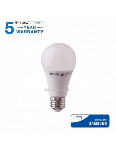 Bombilla LED estandar E27 A60 | Vtac Pro A60 E27 231 | Bombilla LED E27 | LeonLeds iluminación