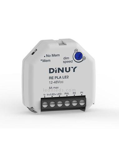 Regulador tiras LED Pastilla  Pastilla reguladora LED   RE-PLA-LE2 Dinuy   Regulador pastillas LED   LeonLeds Iluminación