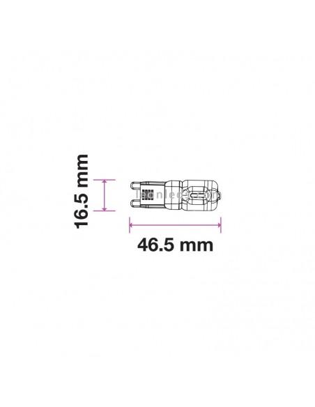 Bombilla Led G9 de 2.5W 200 Lúmens equivalente a 20W de Vtac Pro en Luz Fría 6400K | LeonLeds Iluminación